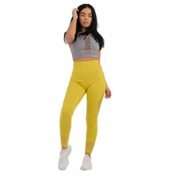Lux Lace Leggings Yellow