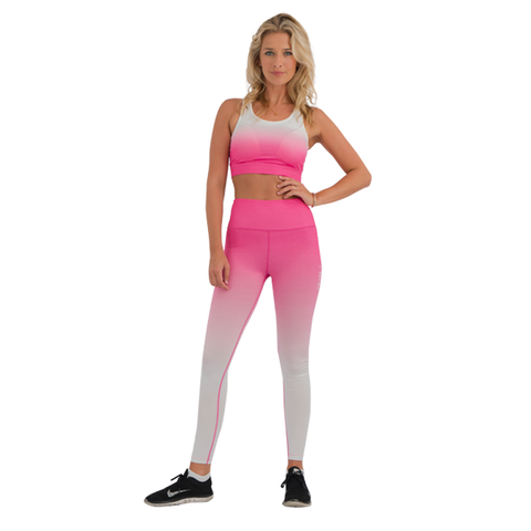 Faded Leggings Pink/White
