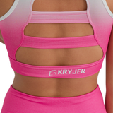 Faded Sports Bra Pink/White
