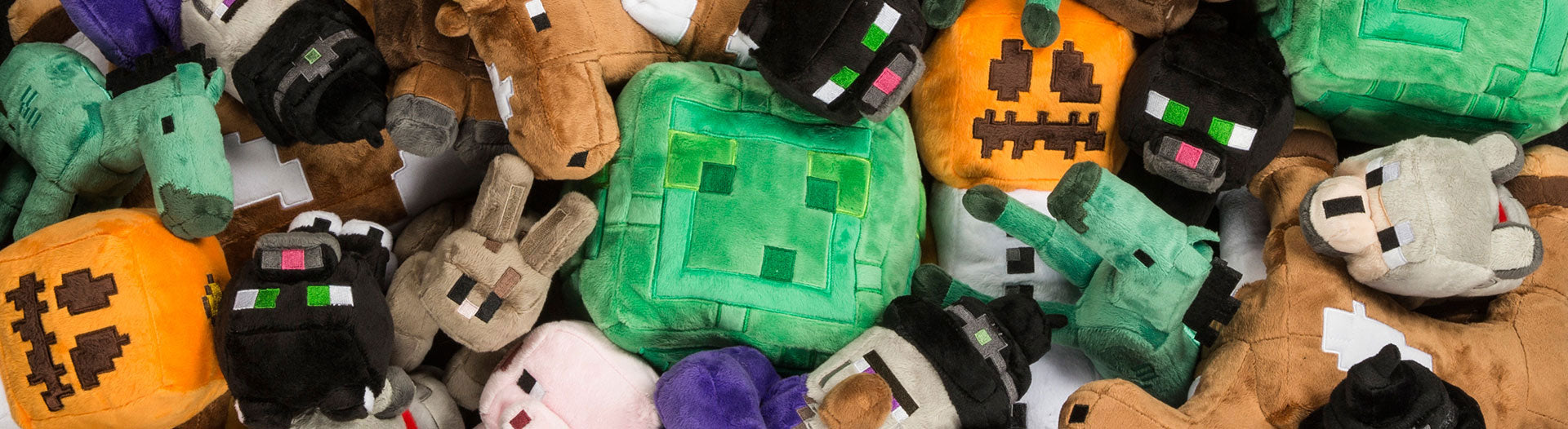 Assorted Minecraft plush toys
