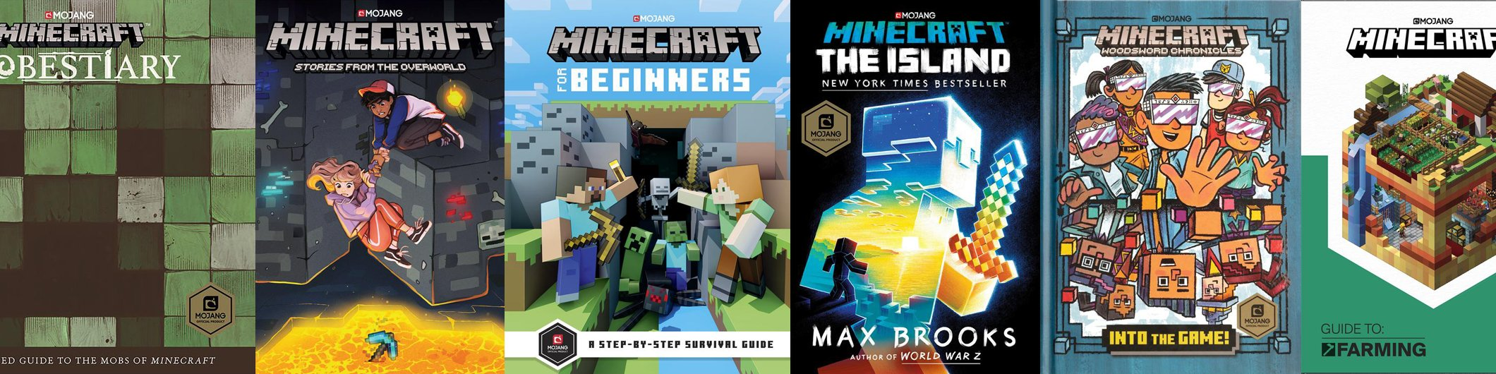 Assorted Minecraft products photo.