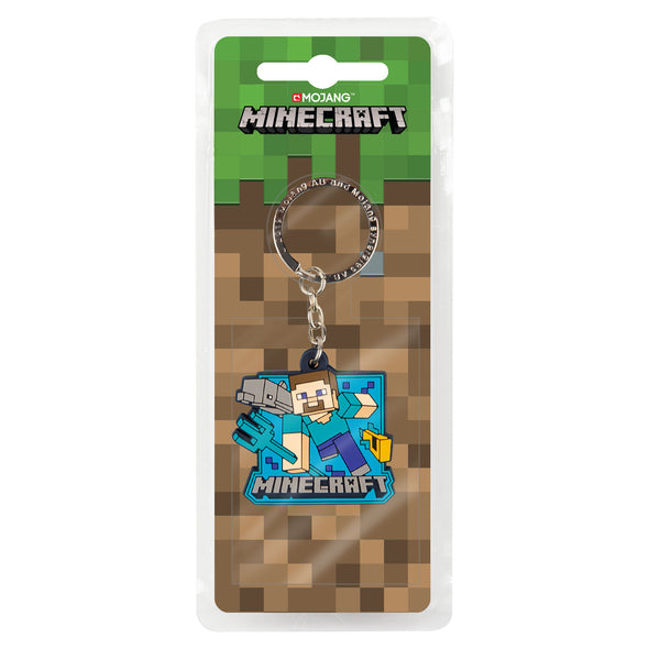 View 2 of Minecraft Aquatic Steve Keychain photo.