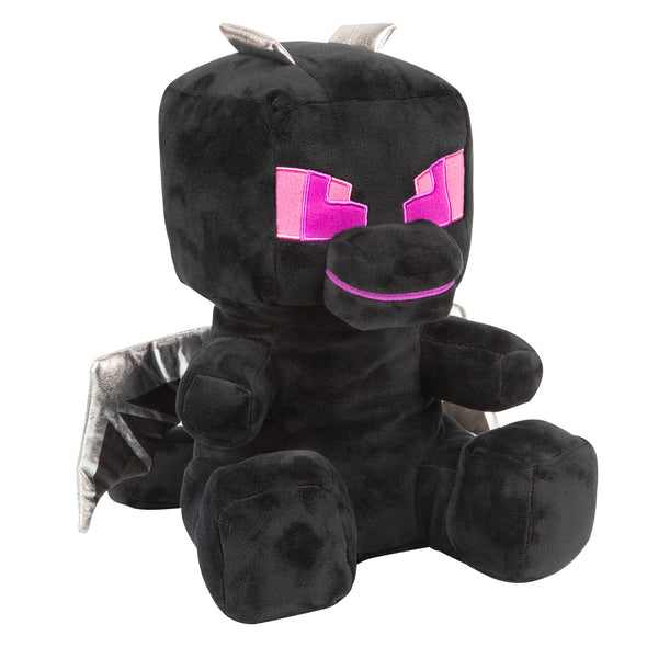 View 1 of Minecraft Roaring and Rumbling Ender Dragon Plush photo.