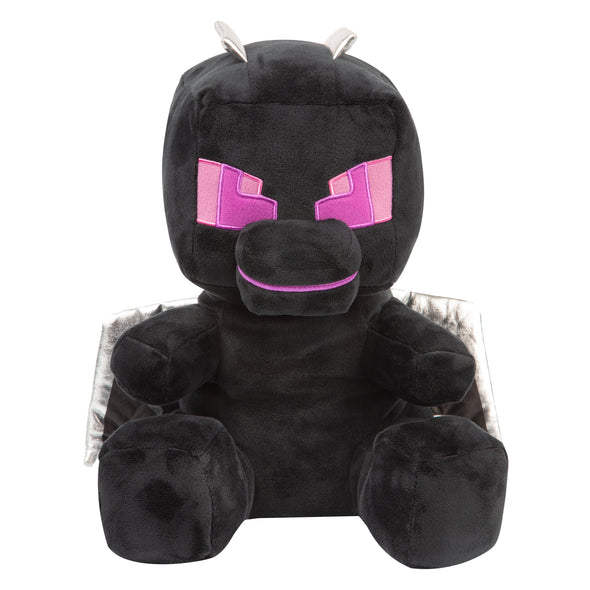 View 2 of Minecraft Roaring and Rumbling Ender Dragon Plush photo.