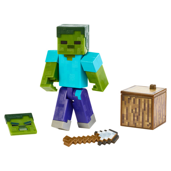 View 1 of Minecraft Zombie Comic Maker Action Figure photo.