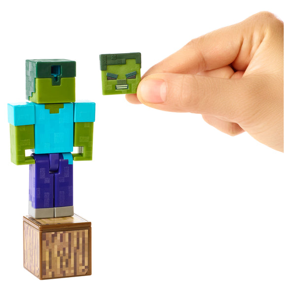 View 5 of Minecraft Zombie Comic Maker Action Figure photo.