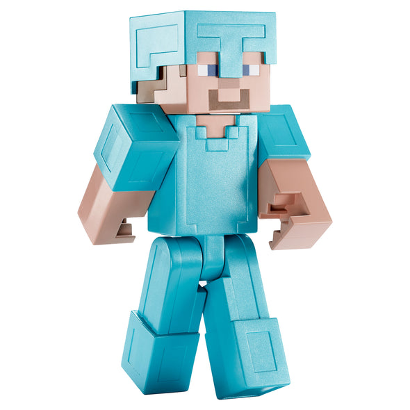 View 1 of Minecraft Steve in Diamond Armor Large Scale Action Figure photo.