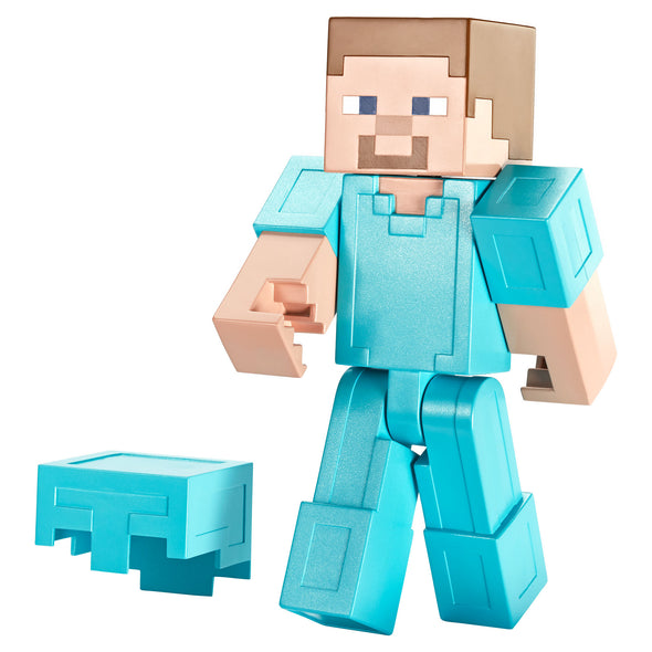 View 2 of Minecraft Steve in Diamond Armor Large Scale Action Figure photo.