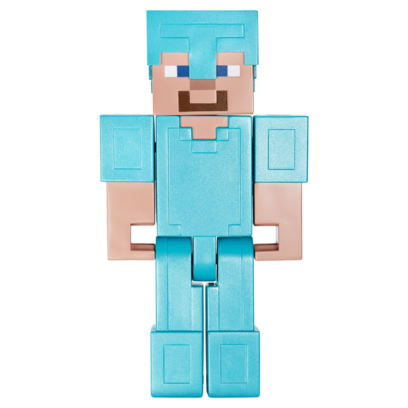 View 3 of Minecraft Steve in Diamond Armor Large Scale Action Figure photo.
