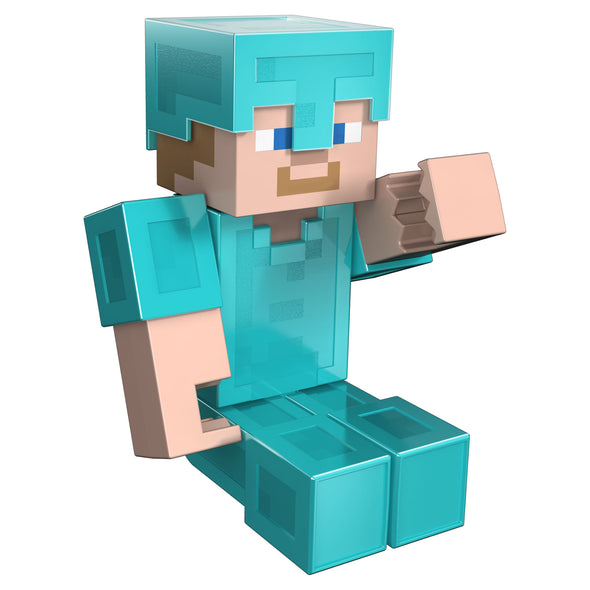 View 4 of Minecraft Steve in Diamond Armor Large Scale Action Figure photo.