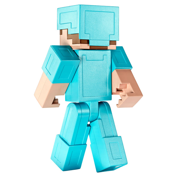 View 5 of Minecraft Steve in Diamond Armor Large Scale Action Figure photo.
