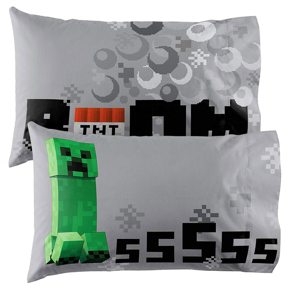 View 6 of Minecraft Creeper Twin Bed in a Bag photo.