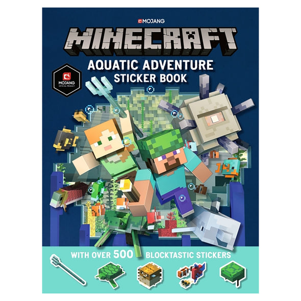 View 1 of Minecraft Official Aquatic Adventure Sticker Book photo.