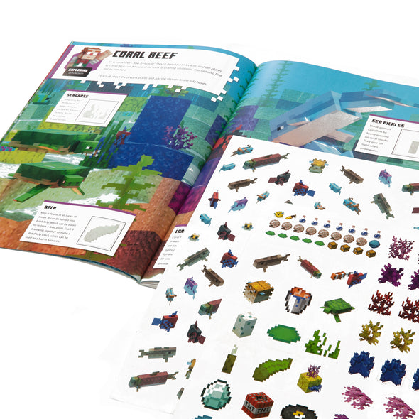 View 2 of Minecraft Official Aquatic Adventure Sticker Book photo.