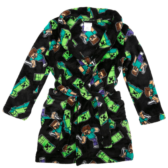 View 1 of Minecraft Creeper Chaos Youth Robe photo.