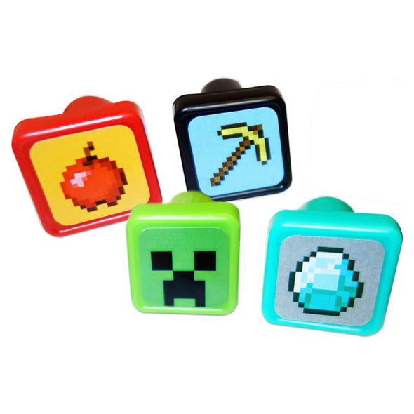 View 1 of Minecraft Self Inking Stamps, 4-Pack photo.