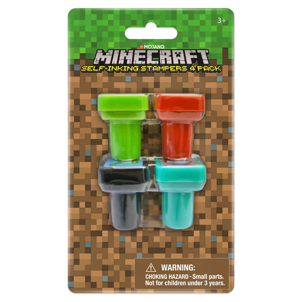 View 2 of Minecraft Self Inking Stamps, 4-Pack photo.