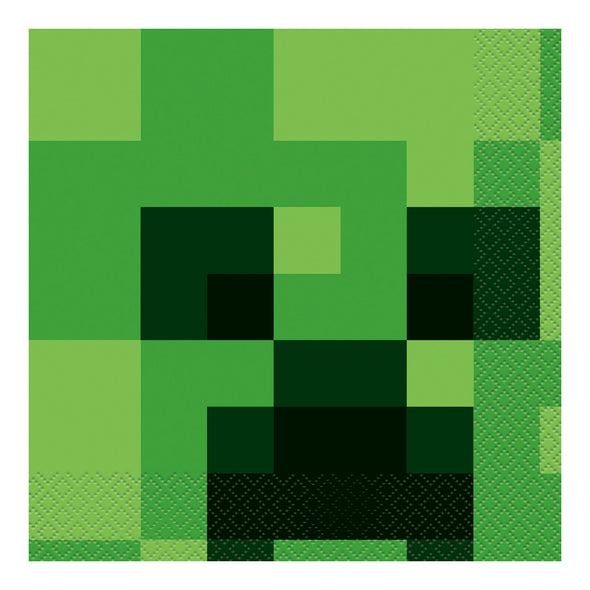 View 1 of Minecraft Creeper Luncheon Napkin, 16-Pack photo.
