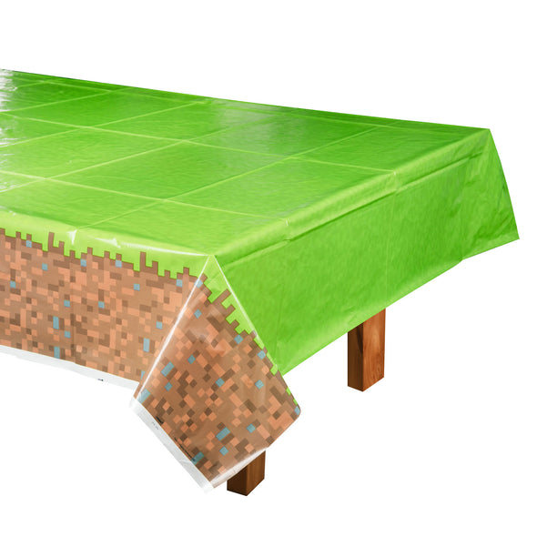 View 1 of Minecraft Grass Block Plastic Table Cover photo.