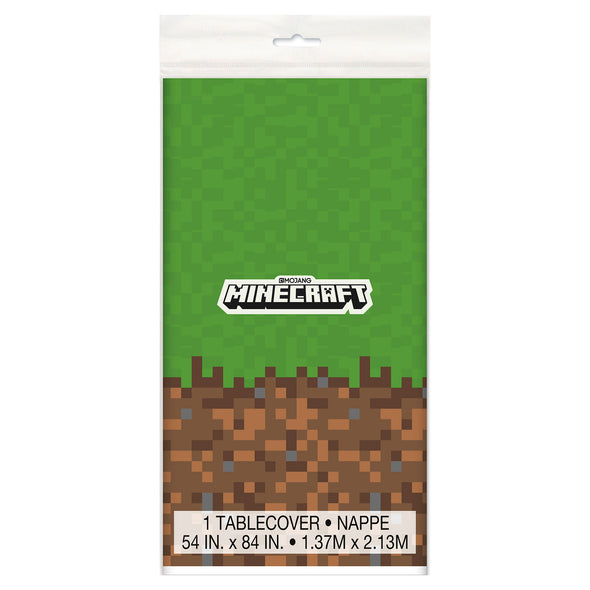 View 2 of Minecraft Grass Block Plastic Table Cover photo.