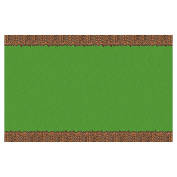 View 3 of Minecraft Grass Block Plastic Table Cover photo.
