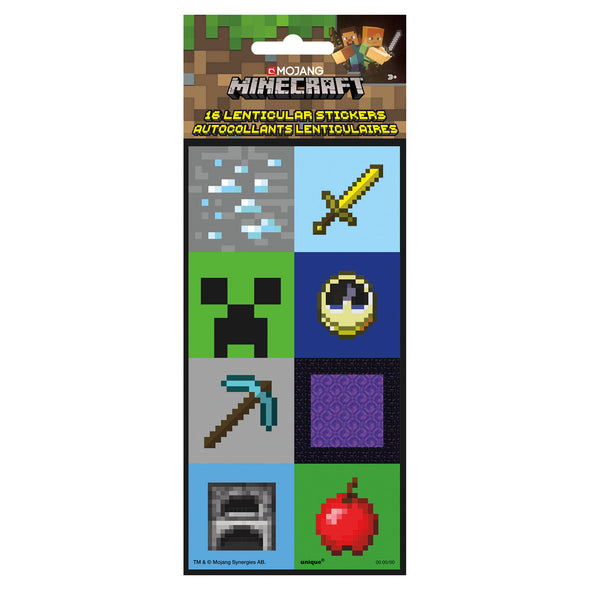 View 2 of Minecraft Lenticular 3D Sticker Party Favors photo.