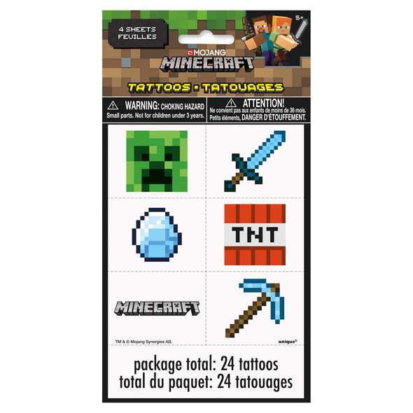 View 2 of Minecraft Tattoo Party Favors photo.