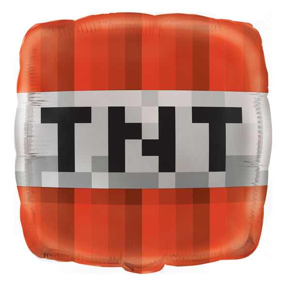 View 1 of Minecraft TNT Foil Balloon photo.