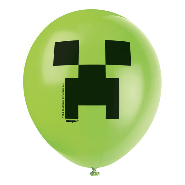 View 1 of Minecraft Creeper Latex Balloon, 8-Pack photo.