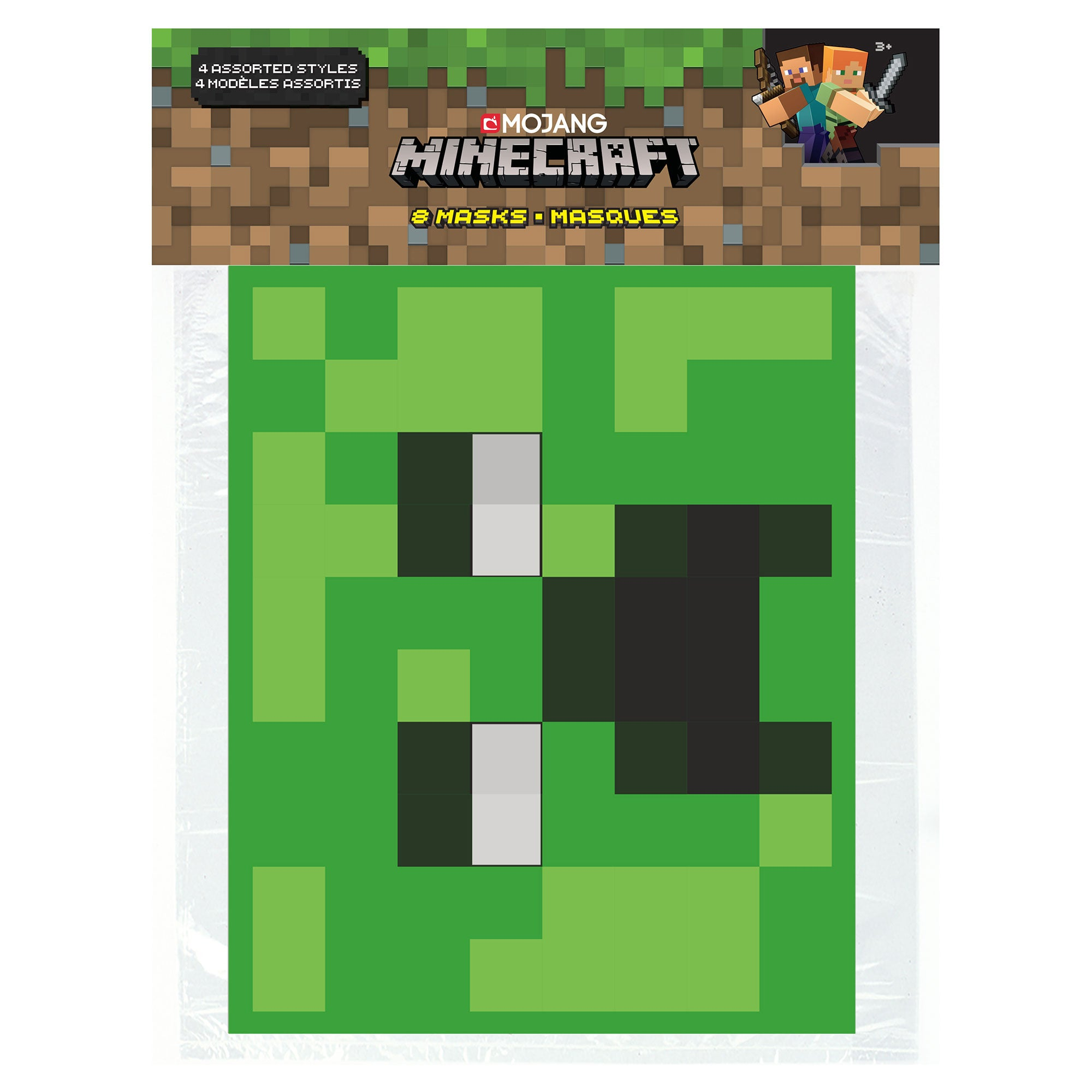 Minecraft Party Mask, 9-Pack