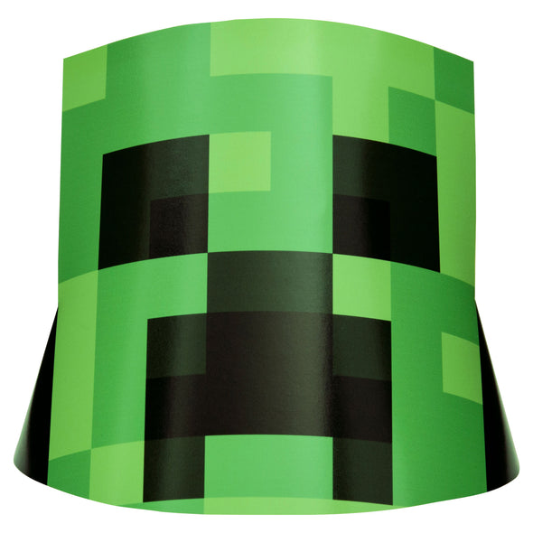View 1 of Minecraft Creeper Party Hat, 8-Pack photo.