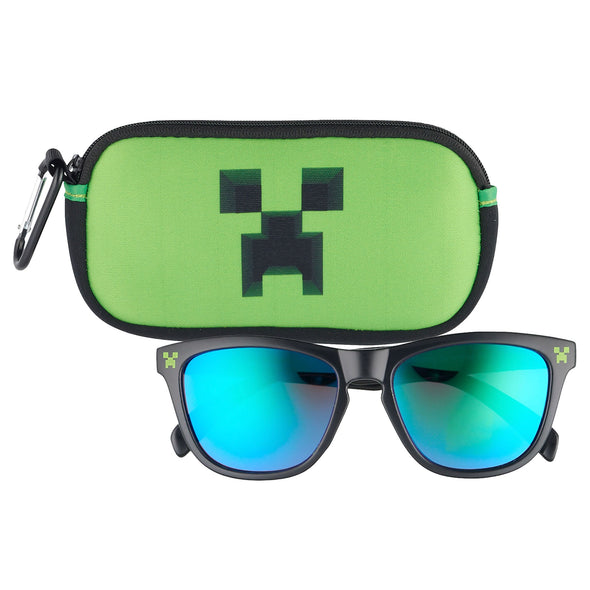 View 1 of Minecraft Creeper Sunglasses and Case photo.