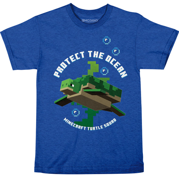 View 1 of Minecraft Protect the Ocean Youth Tee photo.