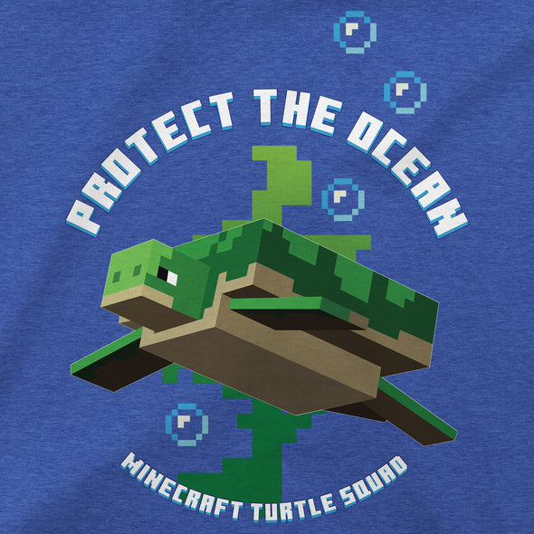 View 2 of Minecraft Protect the Ocean Youth Tee photo.