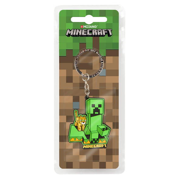 View 2 of Minecraft Craftable Creeper Chase Keychain photo.