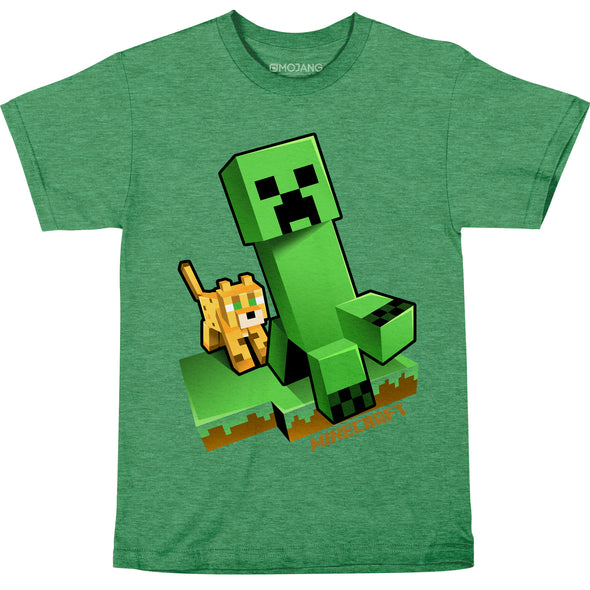 View 1 of Minecraft Craftable Creeper Chase Youth Tee photo.
