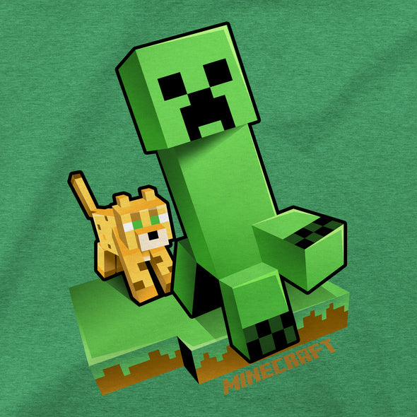 View 2 of Minecraft Craftable Creeper Chase Youth Tee photo.