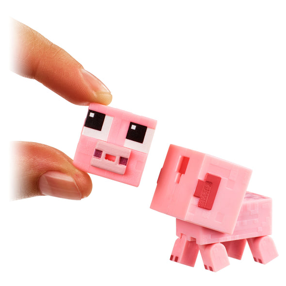 View 3 of Minecraft Baby Animals 3-Pack Comic Maker Action Figure Set photo.