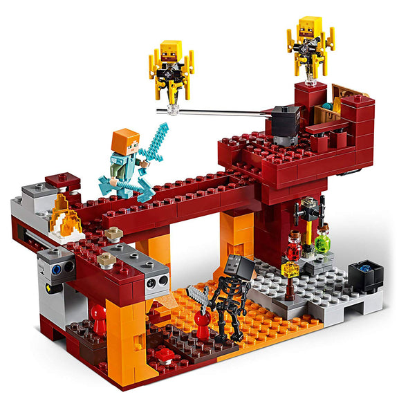 View 3 of Minecraft The Blaze Bridge LEGO Building Kit photo.