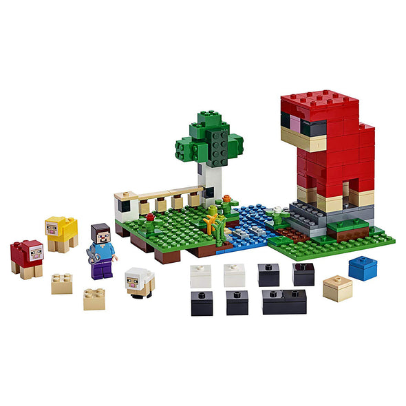 View 2 of Minecraft The Wool Farm LEGO Building Set photo.