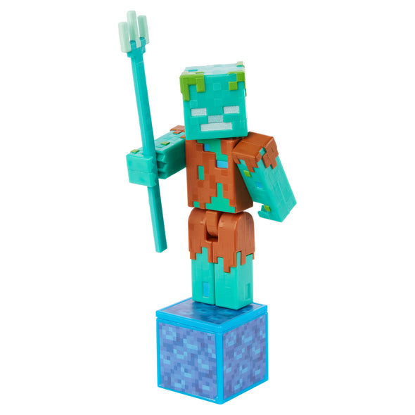View 2 of Minecraft Drowned Comic Maker Action Figure photo.