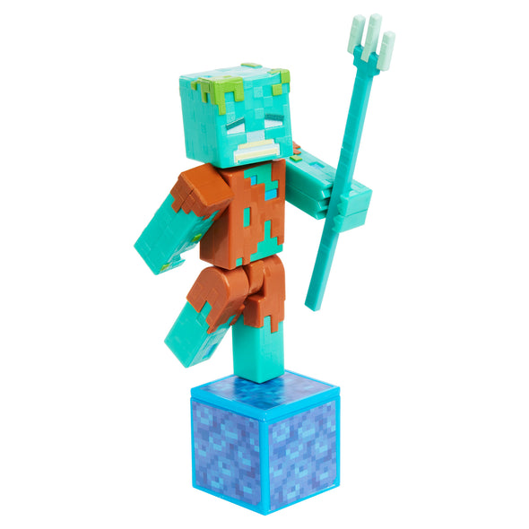 View 3 of Minecraft Drowned Comic Maker Action Figure photo.