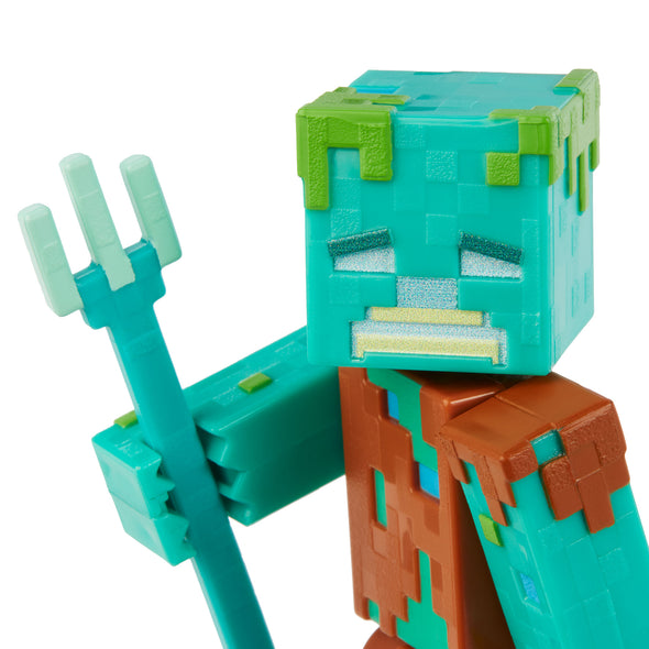 View 4 of Minecraft Drowned Comic Maker Action Figure photo.
