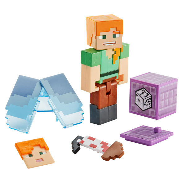 View 1 of Minecraft Alex with Elytra Comic Maker Action Figure photo.