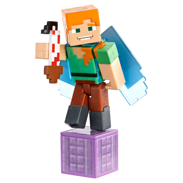 View 3 of Minecraft Alex with Elytra Comic Maker Action Figure photo.