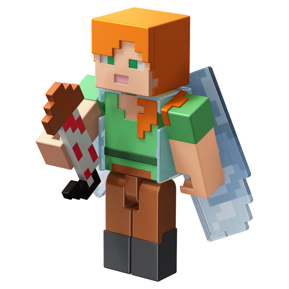 View 4 of Minecraft Alex with Elytra Comic Maker Action Figure photo.
