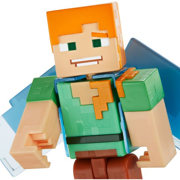 View 6 of Minecraft Alex with Elytra Comic Maker Action Figure photo.