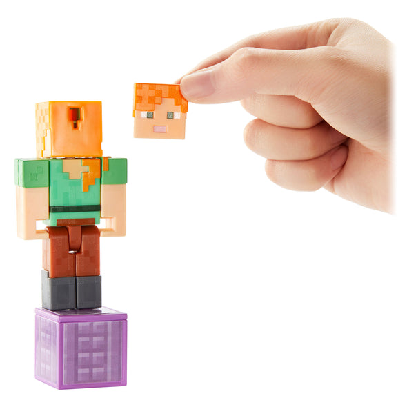 View 7 of Minecraft Alex with Elytra Comic Maker Action Figure photo.