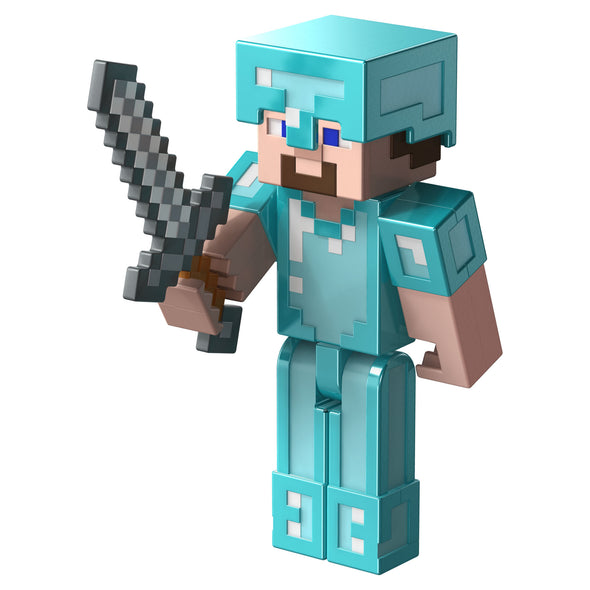 View 4 of Minecraft Steve in Diamond Armor Comic Maker Action Figure photo.