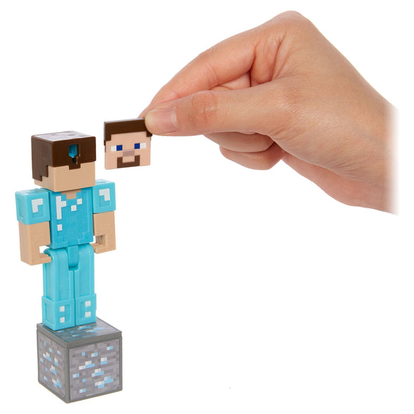 View 6 of Minecraft Steve in Diamond Armor Comic Maker Action Figure photo.